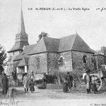Eglise paroissiale Saint-Pierre - Léglise parroissiale et son enclos autour de 1900